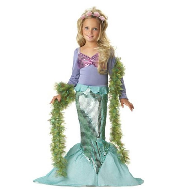 >> Click to Buy << Girl Mermaid Costume Kids Swimmable Mermaid Tail Biquini Maillot De Bain Summer Spliced Dress Costume Age 2-8 Y little Mermaid #Affiliate
