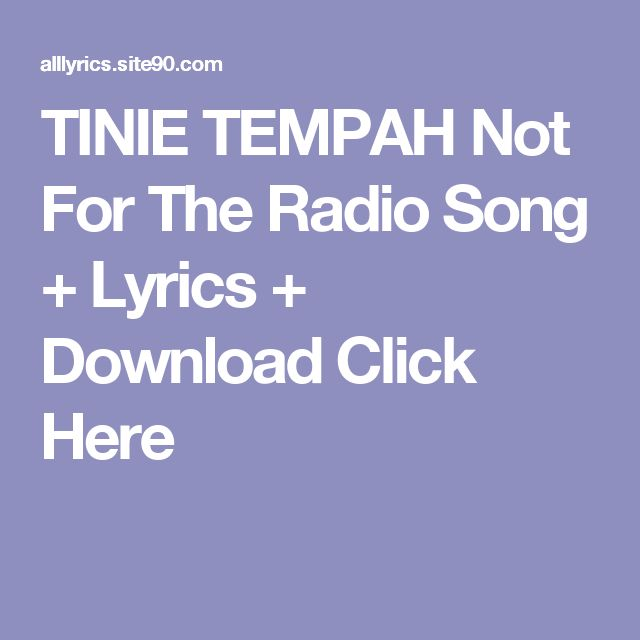 TINIE TEMPAH Not For The Radio Song + Lyrics + Download  Click Here