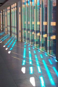Laminated dichroic glass. DAG Inter Ltd are the decorative glass suppliers for dichroic glass in the UK.