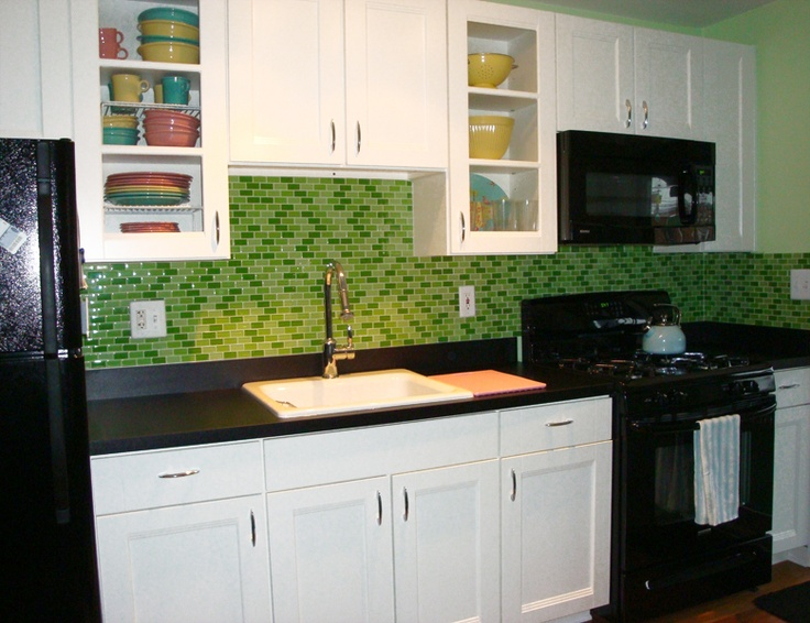 Image result for kitchen dashboard with mosaic tiles, green dashboard