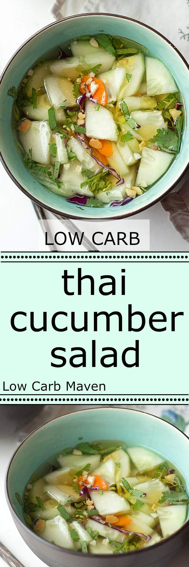 An authentic tasting Thai cucumber salad that's perfect for any low carb diet.