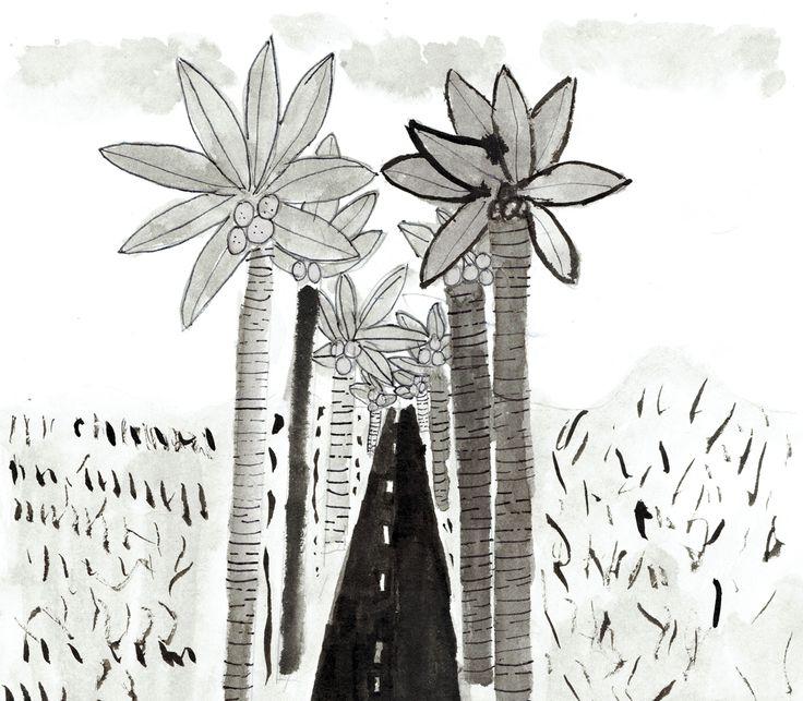 Chloé - Chemin aux palmiers. 9 ans.