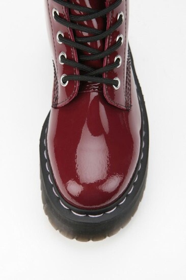 Aggyness Deyn for Dr. Martin boot in cherry red