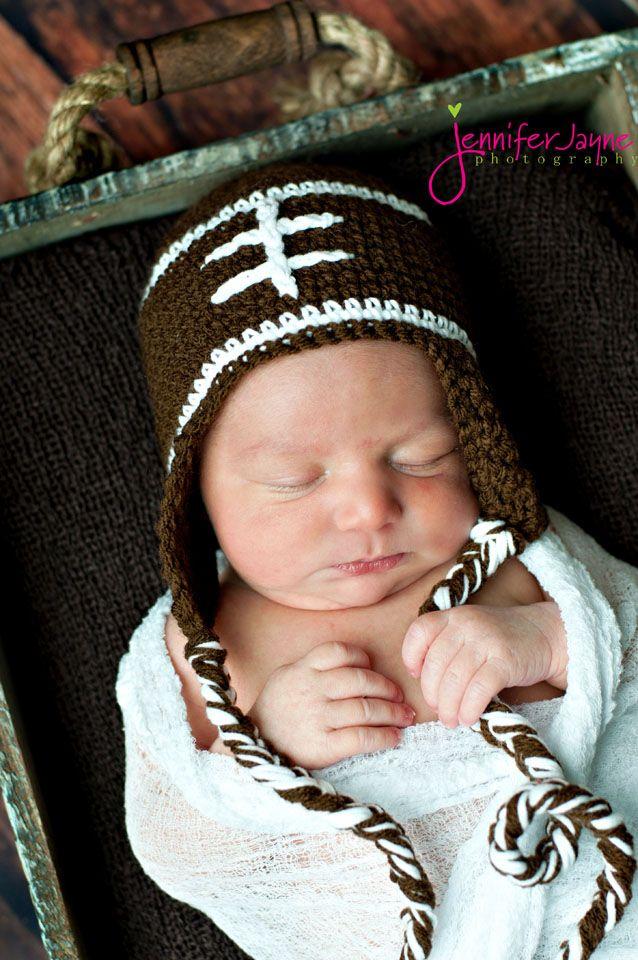 baby football hat { free crochet pattern...so cute for little boys }