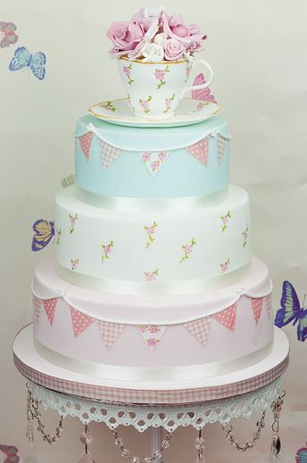 Shabby Chic Cake (link does not lead to a tutorial and/or original source).