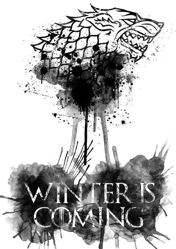 Game of Thrones Winter is coming Digital Print. Code-7gt  ➤ PLEASE NOTE…