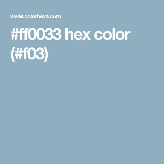ff0033 hex color f03