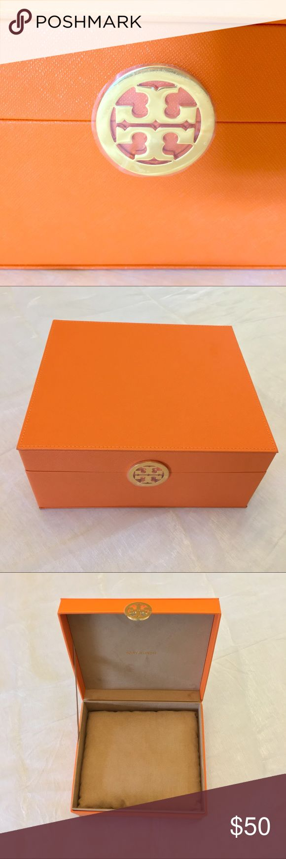 NEW Tory Burch Orange Box Brand New Tory Burch box. Never used and with pillow to store your jewelry on. Was a GWP when purchased Tory Burch jewelry. Tory Burch Jewelry