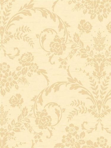 Floral Damask in Gold Wallpaper CS8747