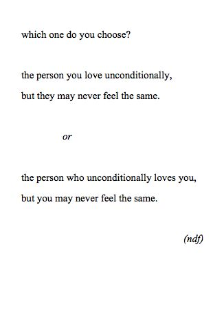 Unrequited means