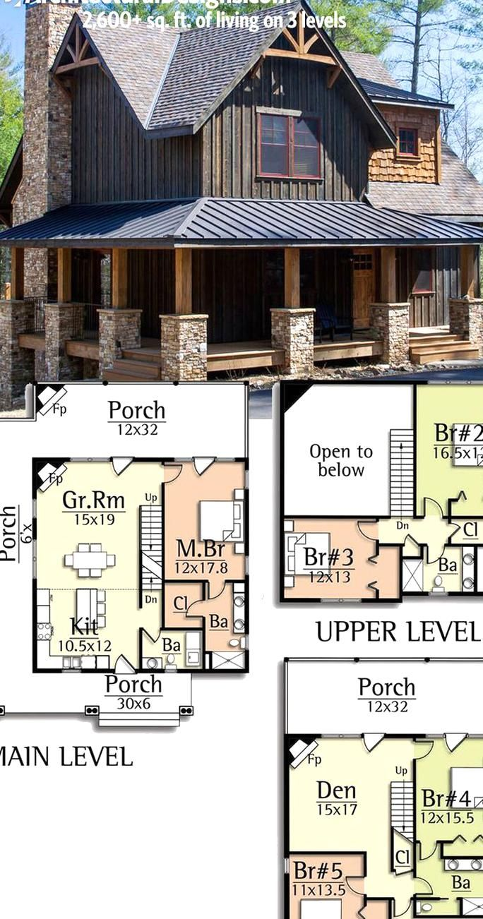 Architectural Designs Rugged House Plan 18733ck Gives You Over 2600 Sq Ft Of Living On 3 Level In 2020 Rugged House Plan House Architecture Design Basement House Plans