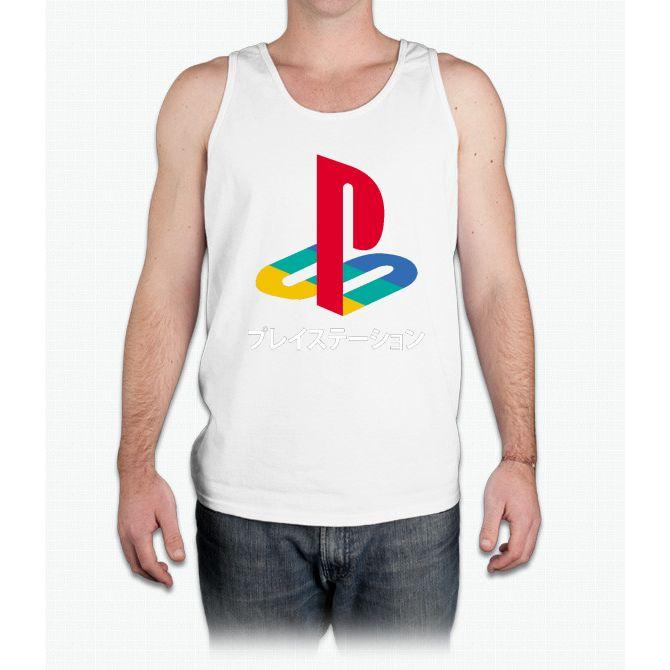 Playstation Logo t shirt - Mens Tank Top