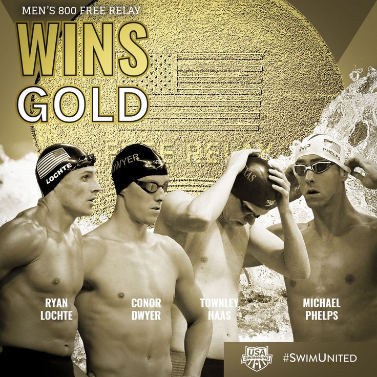 Former Spruce Creek #swimming legend, Ryan Locthe wins GOLD with the 4x800 free relay. From @usaswimming