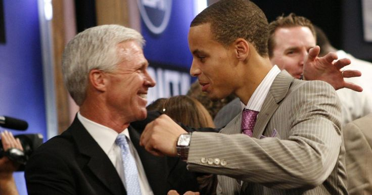 """Stephen Curry credited Davidson College coach Bob McKillop for taking a chance on """"a scrawny kid ...''"""