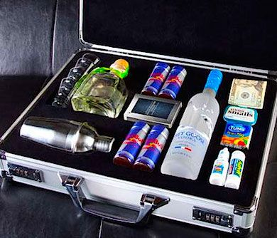 The Party Time Briefcase looks just like a briefcase, It feels just like a briefcase. But open it up, and—surprise! It's party time! The metal briefcase ..