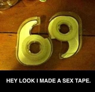 This could be a sticky situation.: Laughing, Funny Shit, Funny Pictures, Giggl, Funny Stuff, Humor, Funnystuff, Sextape, Sex Tape