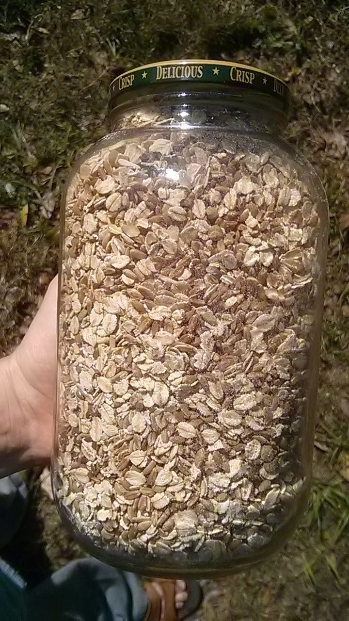 Organic Chicken Feed  -16 cups of Organic Winter Wheat -12 cups of  Organic rolled oats - 4 cups of whole Organic green len...