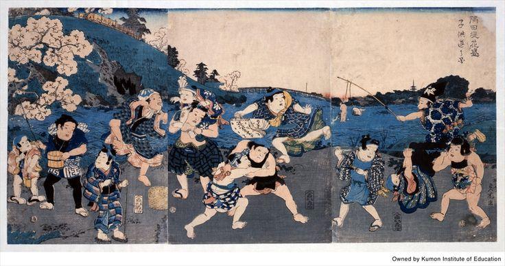 隅田堤花盛子供遊の図 くもん子ども浮世絵ミュージアム