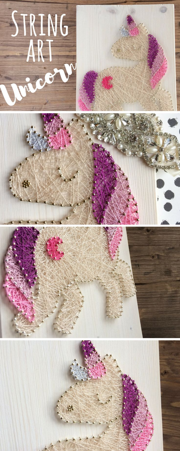Modern and cute pink wall decor. Colorful unicorn wall decor for girly girls or anyone who is a unicorn lover, lovely present for birthday or great nursery or kids room decor