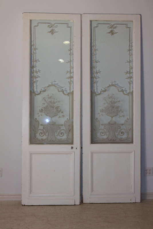 Antique etched doors. I think I would paint the actual door instead of  leaving it - 13 Best Etched Glass Images On Pinterest Etched Glass, Glass Doors