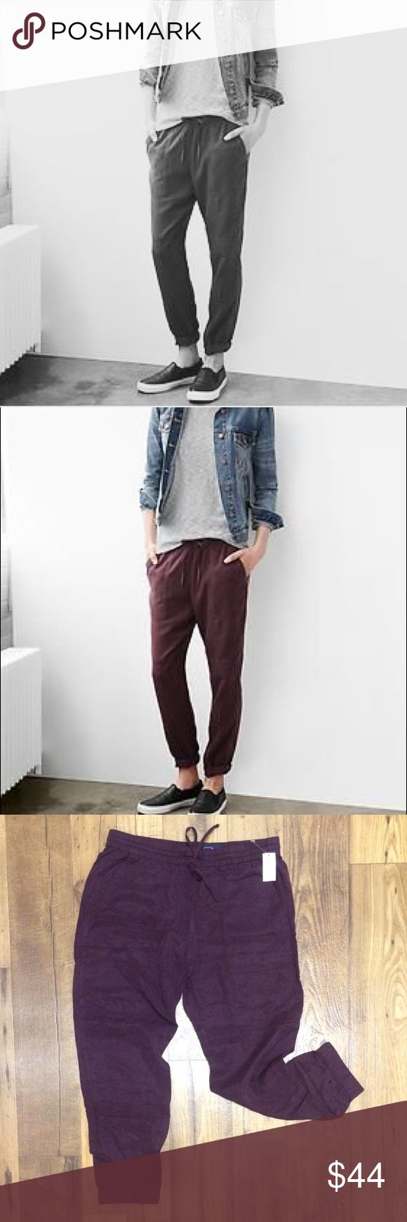 """NWT Maroon Joggers NEW With Tag Maroon Gap Jogger Pants   Size M   Waist: approx 16""""  Inseam: approx 26.5""""  Rise: approx 11.5""""  🚫NO TRADES🚫 GAP Pants Track Pants & Joggers"""