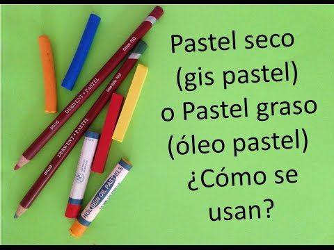 Como pintar con pastel seco (gis pastel) y pastel graso (oleo pastel) pa...