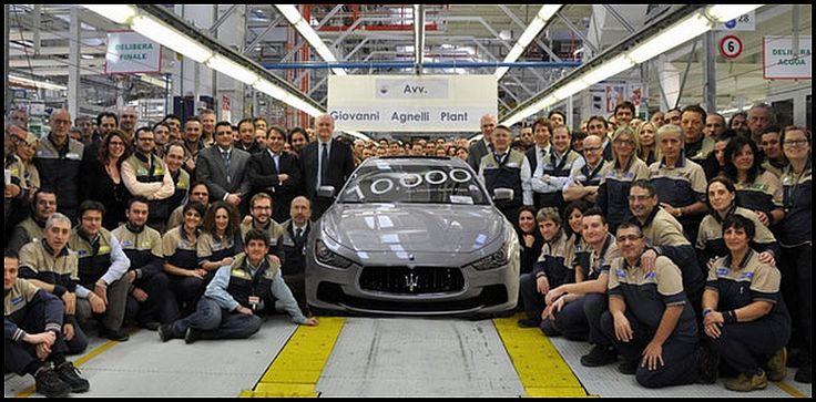 Maserati : 10.000 autos à Grugliasco