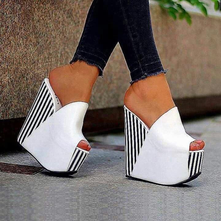 a4f66a96a6c87 ... Stripe and white wedges. online retailer 6028a 317b6  2013 New Arrival  Sweaty Women Flat Sandals With Flower On Top . ...
