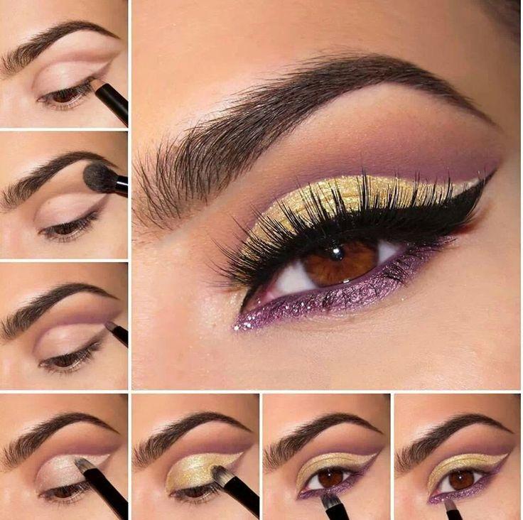 #Maquillaje #ojos marrones                                                                                                                                                      Más