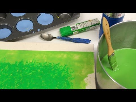 ▶ Encaustic Painting- Texture Technique Using A Spoon by Jon Peters - YouTube