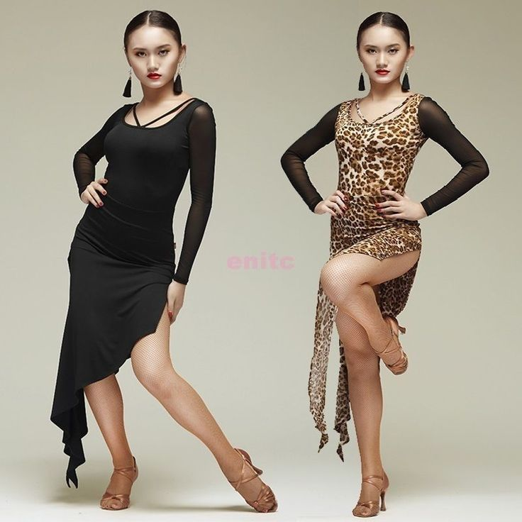 Sexy+Womens+Latin+Dance+Dress+Cha+Cha+Rumba+Samba+Ballroom+Slit+Dress+Dancewear+#Unbranded