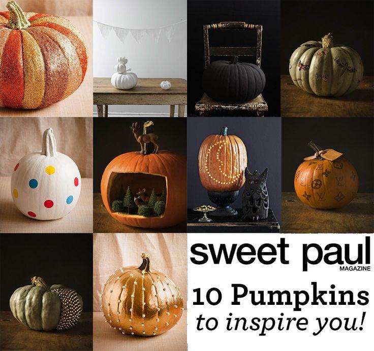 10 stunning pumpkin decorating diys kid pumpkins and decorating ideas. Black Bedroom Furniture Sets. Home Design Ideas