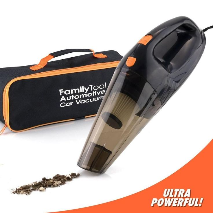 Car Vacuum Cleaner 12V Handheld Portable Auto Vac with Hepa Suction Filter & Bag #FamilyTool