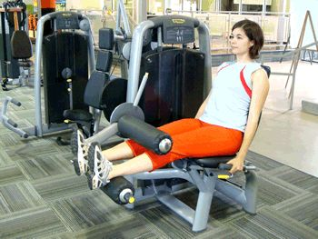 Seated Leg Curl Machine Exercise Demonstration via @SparkPeople