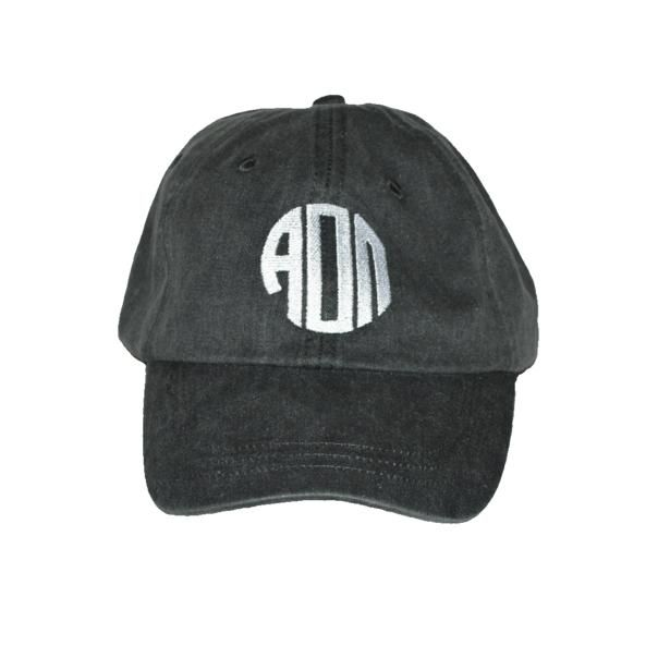 AOII Emporium New Arrival! Classic Charcoal Monogram Embroidered Hat