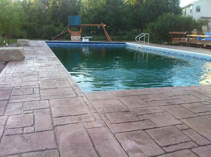 Stamped Concrete Around Pool Glamorous Best 25 Stamped Concrete Cost Ideas On Pinterest  Concrete Patio