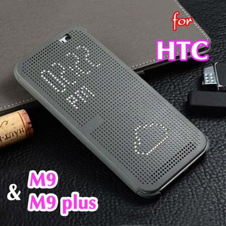For HTC One M9 Plus Phone Cases Slim Dot Bag Smart Auto Sleep View Silicone Original Flip Cover Shockproof Case For HTC One M9