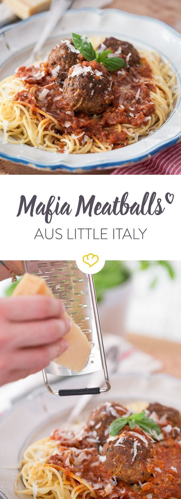 Hol dir Little Italy nach Hause und koche saftige italo-amerikanische Mafia Meatballs mit einer fantstischen Tomatensauce.