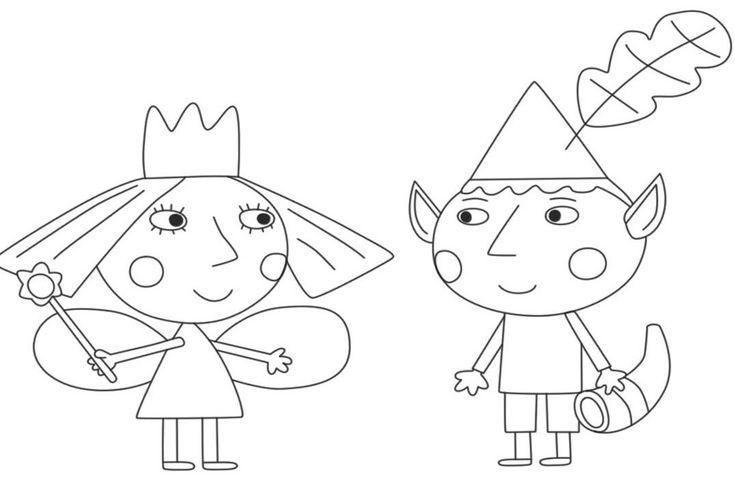 ausmalbilder ben und holly little kingdom  coloriage