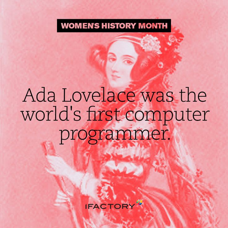 Ada Lovelace was the worlds first computer programmer. #WomensHistoryMonth #InternationalWomensDay #IWD #AdaLovelace#ifactory #ifactorydigital