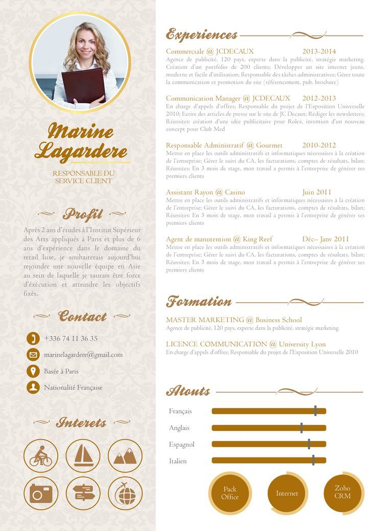 Business Infographic Cv Original Un Cv Pas Comme Les Autres Mycvfactory Infographicnow Com Your Number One Source For Daily Infographics Visual Cre Creative Cv Cv Design Resume Design