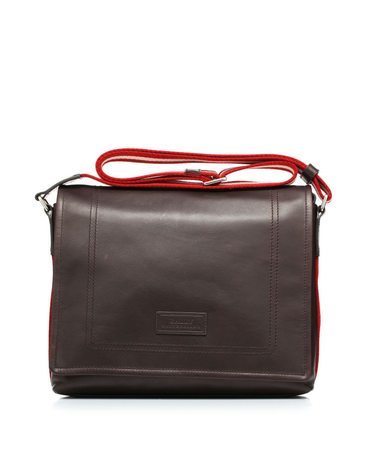 Leather bag with shoulder strap in cotton two-tone by #Bally