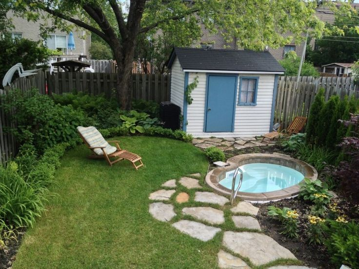 Impressive Tumbleweed Tiny House Company Decorating For Landscape Traditional Design Ideas With Beige Shed Blue And Small Wooden Sleeper Chair Perfecting The Swimming Pools In Small Gardens Tranquil Swimming Pools in Small Gardens to Inspire You Backyard, Swimming Pool