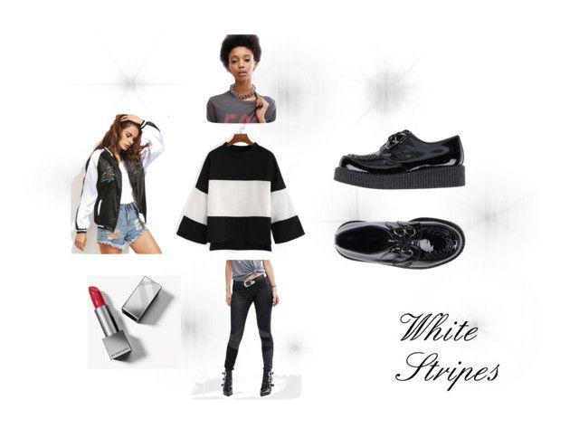 """White Stripes"" by beatefeick on Polyvore featuring Mode, BLANKNYC, Underground, ASOS und Burberry"