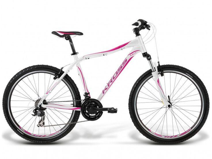 Rower górski damski Kross Lea F2 XS(15) biało-różowy
