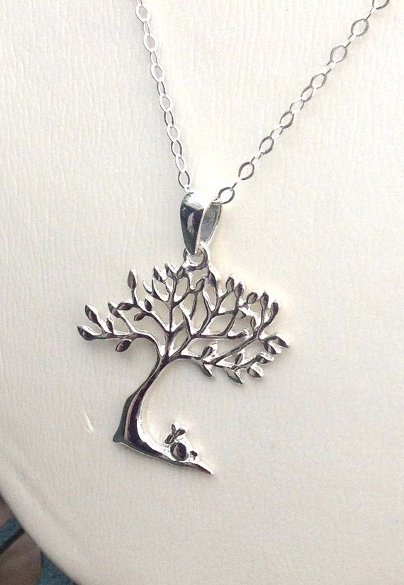 Great Tree of Life pendant necklace, 925 Sterling Silver necklace Valentine's Day Gift / teens necklace / family gift on Etsy, $43.00