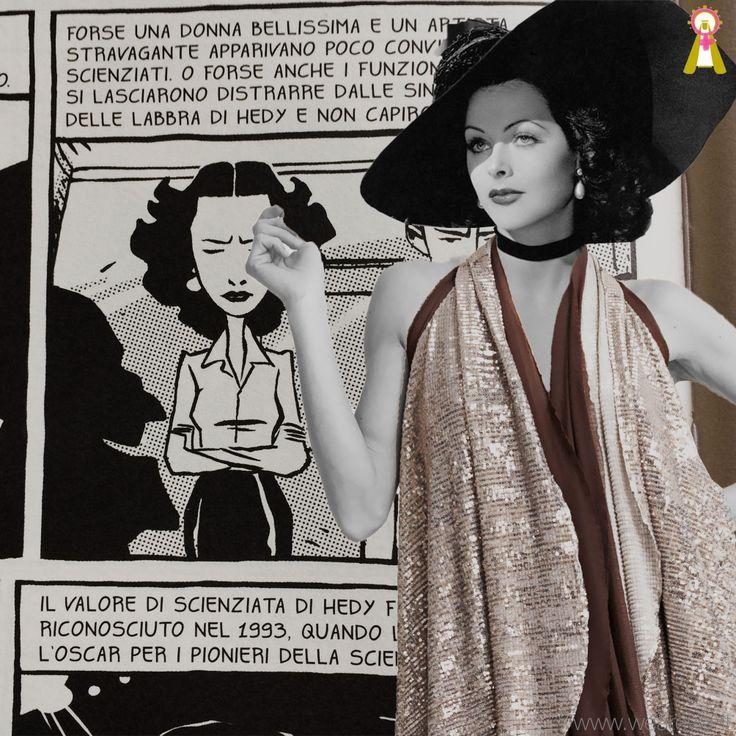 cattive ragazze che ci piace vestire - Hedy Lamarr. #Abbacinante.  Potevo essere una meteora sulla pellicola... Mi valsi del diritto di immaginarmi ad inventare,anche nella realtà a cavallo delle guerre... sono quel che sono, grazie a me. fumetti: Cattive ragazze, di A.Petricelli e S. Riccardi, ed.Sinnos. #santarella #nodirection #doubleface #nosize #everywoman #fashiondress #outfitinspiration #chooseyourway #musthave #picoftheday #fashionrome #modaroma #suffragette #ardire #smellofbook