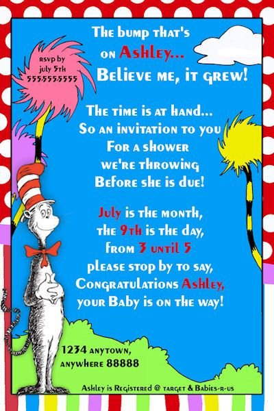 1000 ideas about baby shower templates on pinterest for Dr seuss birthday card template