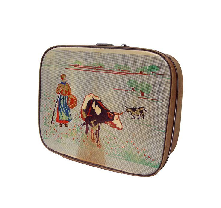 Cow+Sewing+Pattern+up-cycled+vintage+Vanity+Case, £120.00