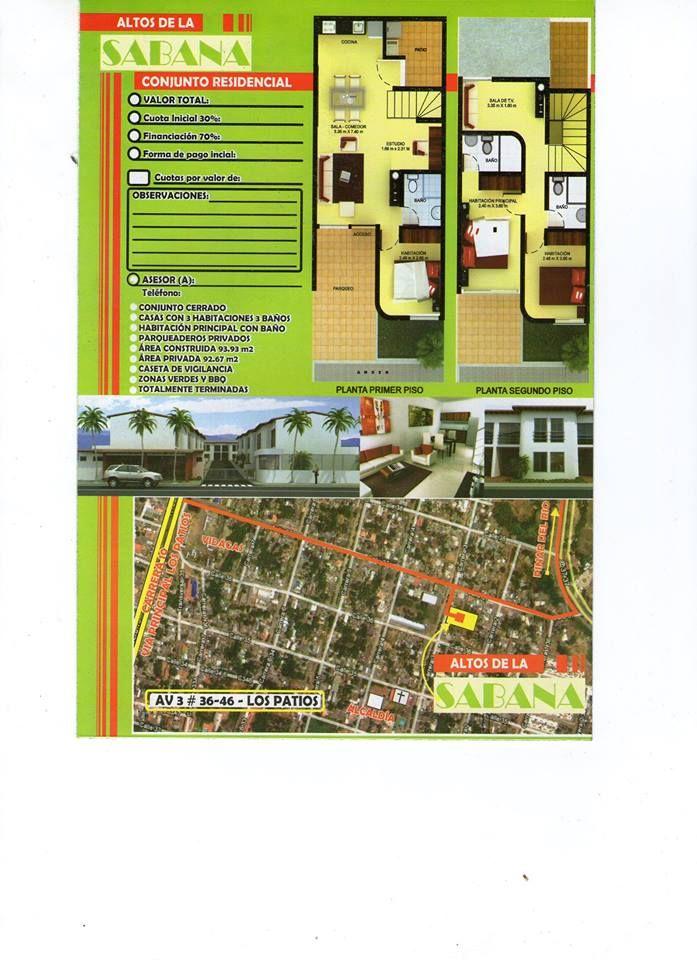 Casas Nuevas, Altos de la Sabana en los Patios - http://www.inmobiliariafinar.com/casas-nuevas-altos-de-la-sabana-en-los-patios/